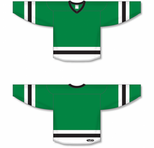 Load image into Gallery viewer, Kelly, White, Black League Blank Hockey Jerseys