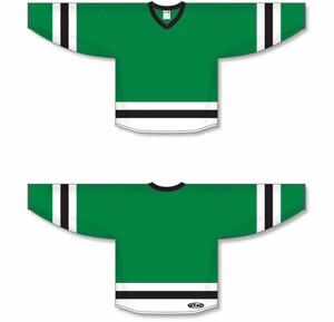 Kelly, White, Black League Blank Hockey Jerseys