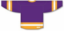 Load image into Gallery viewer, Purple, Gold, White League Blank Hockey Jerseys