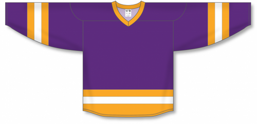 Purple, Gold, White League Blank Hockey Jerseys