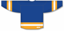 Load image into Gallery viewer, Royal, Gold, White League Blank Hockey Jerseys