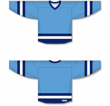 Load image into Gallery viewer, Sky, Navy, White League Blank Hockey Jerseys