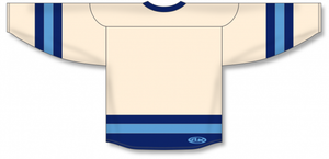 Sand, Navy, Sky League Blank Hockey Jerseys