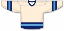 Load image into Gallery viewer, Sand, Navy, Sky League Blank Hockey Jerseys