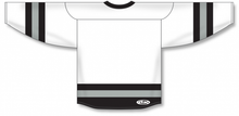 Load image into Gallery viewer, White, Black, Grey League Blank Hockey Jerseys