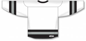 White, Black, Grey League Blank Hockey Jerseys