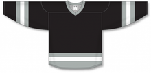 Load image into Gallery viewer, Black, Grey, White League Blank Hockey Jerseys