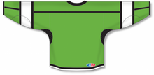 Load image into Gallery viewer, Lime Green, Black, White Select Blank Hockey Jerseys