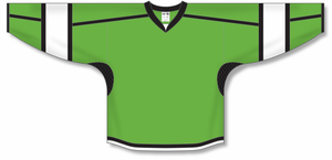 Lime Green, Black, White Select Blank Hockey Jerseys