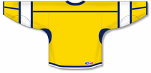 Load image into Gallery viewer, Maize, Navy, White Hockey Jersey