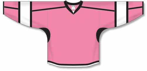 Pink, Black, White Select Blank Hockey Jerseys