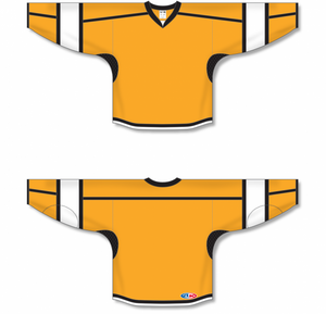 Gold, Black, White Select Blank Hockey Jerseys