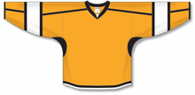 Load image into Gallery viewer, Gold, Black, White Select Blank Hockey Jerseys
