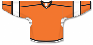 Orange, White, Black Select Blank Hockey Jerseys
