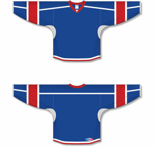 Royal, White, Red Durastar Mesh Select Hockey Jerseys