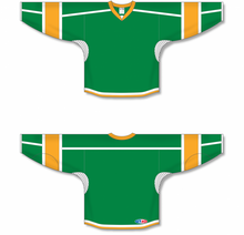 Load image into Gallery viewer, Kelly, White, Gold Durastar Mesh Select Blank Hockey Jerseys