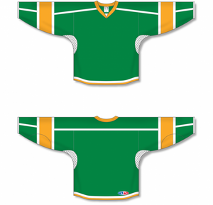 Kelly, White, Gold Durastar Mesh Select Blank Hockey Jerseys