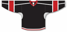 Load image into Gallery viewer, Black, White, Red Durastar Mesh Select Blank Hockey Jerseys