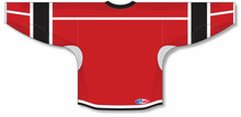 Load image into Gallery viewer, Red, White, Black Durastar Mesh Select Blank Hockey Jerseys