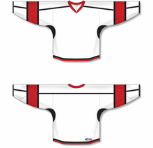 Load image into Gallery viewer, White, Black, Red Durastar Mesh Select Blank Hockey Jerseys