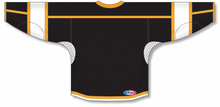 Load image into Gallery viewer, Black, White, Gold Durastar Mesh Select Blank Hockey Jerseys