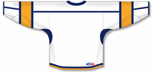 Load image into Gallery viewer, White, Navy, Gold Durastar Mesh Select Blank Hockey Jerseys