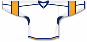 White, Navy, Gold Durastar Mesh Select Blank Hockey Jerseys