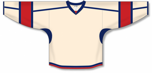 Sand, Navy, Red Durastar Mesh Select Blank Hockey Jerseys