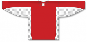 Red, White League Blank Hockey Jerseys