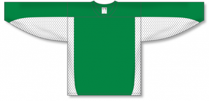 Kelly, White League Blank Hockey Jerseys