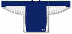 Navy, White League Blank Hockey Jerseys