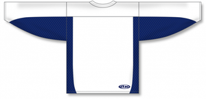 White, Navy League Blank Hockey Jerseys