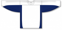 Load image into Gallery viewer, White, Navy League Blank Hockey Jerseys