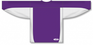 Purple, White League Blank Hockey Jerseys