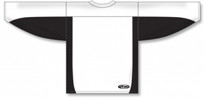 White, Black Durastar Mesh League Blank Hockey Jerseys