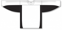 Load image into Gallery viewer, White, Black Durastar Mesh League Blank Hockey Jerseys
