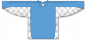 Sky, White Durastar Mesh League Blank Hockey Jerseys