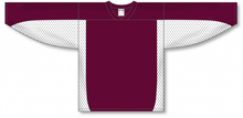 Load image into Gallery viewer, Maroon, White Durastar Mesh League Blank Hockey Jerseys