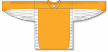 Load image into Gallery viewer, Gold, White Durastar Mesh League Blank Hockey Jerseys
