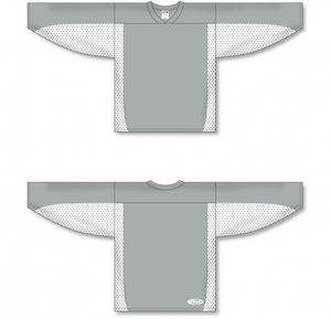 Grey, White League Blank Hockey Jerseys