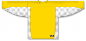 Maize, White League Hockey Jersey
