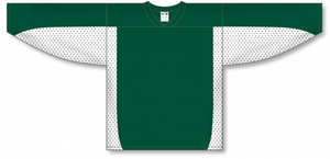 Dark Green, White League Blank Hockey Jerseys
