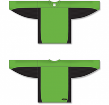 Load image into Gallery viewer, Lime Green, Black League Hockey Jersey