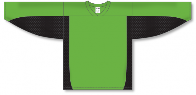 Lime Green, Black League Hockey Jersey