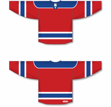 Load image into Gallery viewer, Red, Royal, White Select Blank Hockey Jerseys