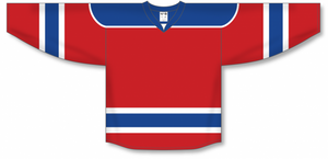 Red, Royal, White Select Blank Hockey Jerseys
