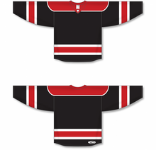 Load image into Gallery viewer, Black, Red, White Select Blank Hockey Jerseys