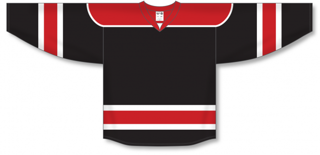 Black, Red, White Select Blank Hockey Jerseys