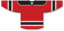 Load image into Gallery viewer, Red, Black, White Select Blank Hockey Jerseys