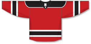 Red, Black, White Select Blank Hockey Jerseys